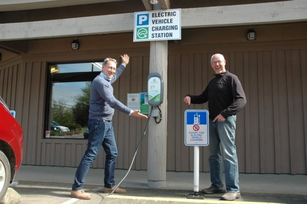Saltspring Island electric charging station