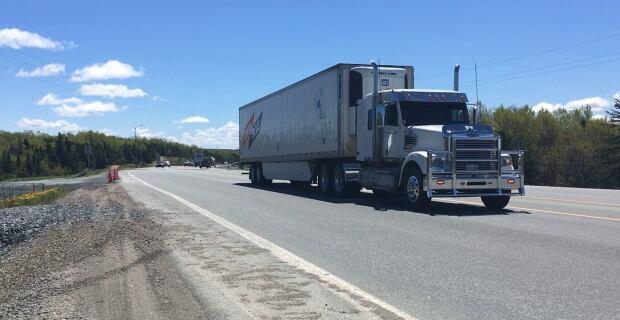 Trucks on Trans Canada