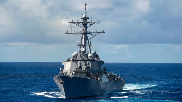 The USS Fitzgerald, seen here in the Pacific Ocean in August 2013, collided with a merchant ship off the coast of Japan early Friday morning, the U.S. military said.