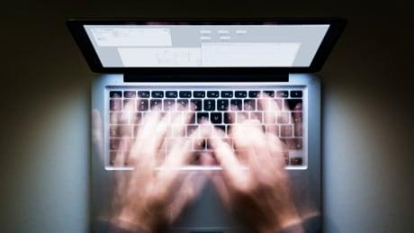 man laptop night social media facebook