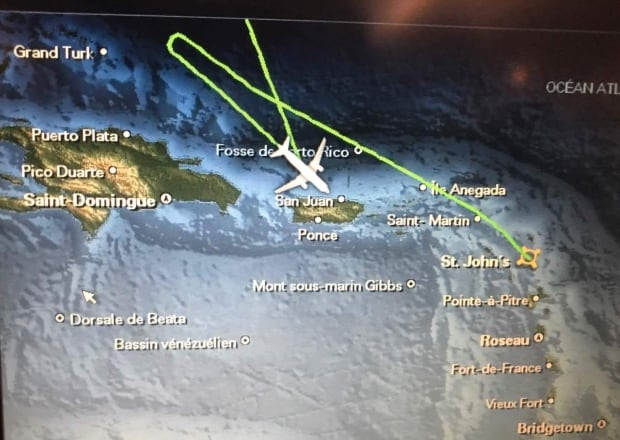 AC Antigua flight route