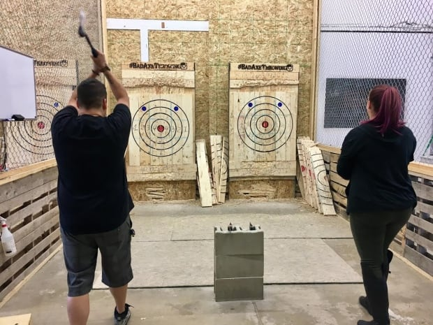 Axe throwing at Bad Axe