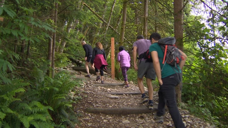 Grouse Grind finally opens after long, cold winter | CBC News