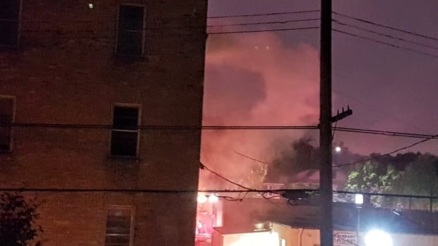 Dozens of people were forced to the street early Sunday morning because of a fire in an apartment on Corydon Avenue.