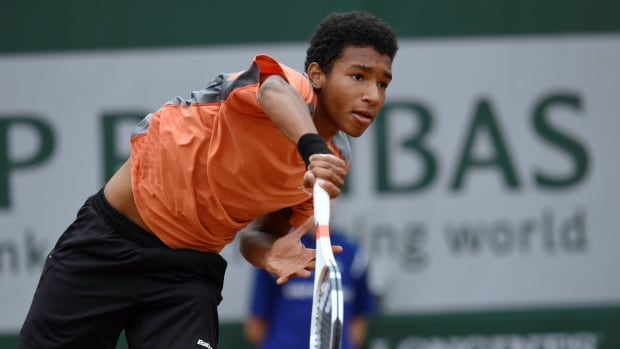 Canada's Felix Auger-Aliassime, seen above at a previous event, became the seventh youngest player to capture an ATP Challenger title with his win at the Open de Sopra Steria in Lyon, France on Sunday.