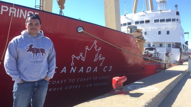 Kevin Laliberte is on Canada C3, a free voyage that's taking Canadians from coast to coast to coast to celebrate Canada's 150th anniversary.