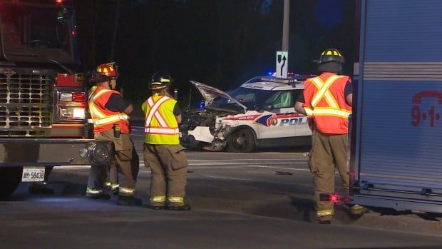York Regional Police cruiser crash