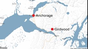 Anchorage Girdwood Alaska map