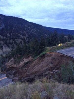 Highway 20 washout