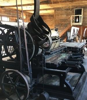 printing press Dawson City