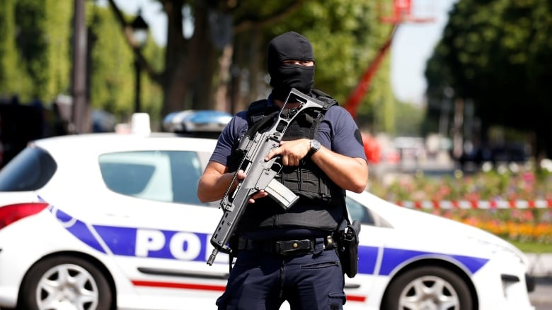 Car Rams Police Vehicle In Paris Attacker Killed Cbc News