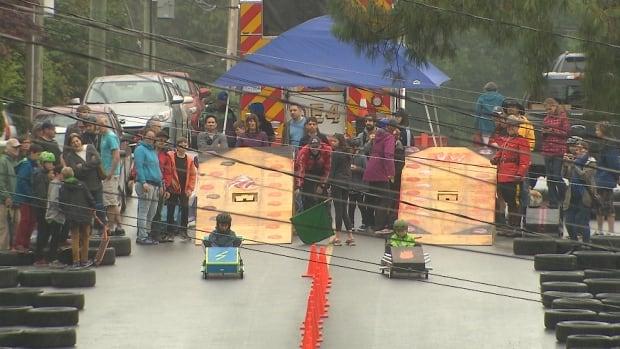 A course to race soapbox cars built by local youth on the North Shore was laid out on Sunday, June 17, 2017 on Carnation Street between Berkley Road and Emerson Way.