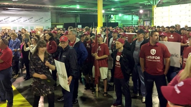 Forestry workers and supporters from across the Maritimes attended the Unifor rally in Saint John on Monday afternoon.