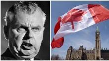Former PM John Diefenbaker/Canadian flag