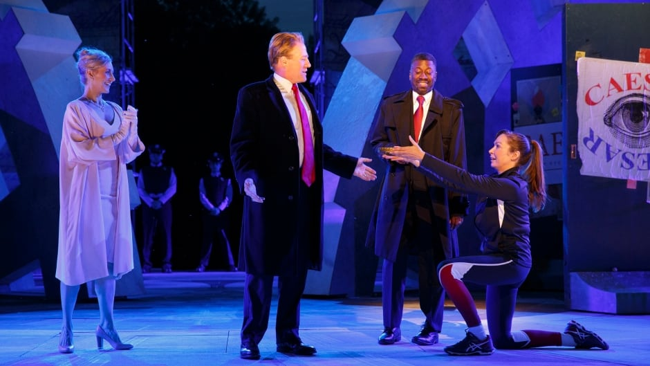 A still from The Public Theater's production of Julius Caesar.