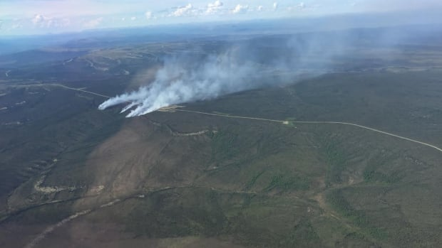 The Dempster Highway has been closed on and off near kilometre 270 because of nearby fires but is currently open.