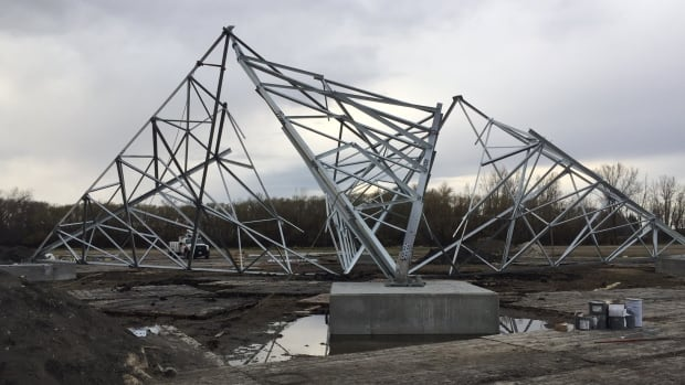 Manitoba Hydro said a tower collapse on the Bipole III line May 2 was the result of improper installation.  The contractor on the job was Forbes Brothers.  There were no injuries.