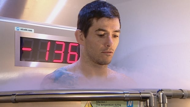 Tim Blanchard says cryotherapy helped him recover from torn knee cartilage.