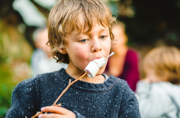 Image result for kid eating marshmallows