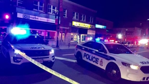 Ottawa police shut down part of Rideau Street near the Rideau River overnight to investigate a shooting and stabbing.