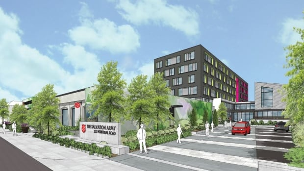 An artist's rendering of a proposed new Salvation Army facility on Montreal Road in Vanier. Ottawa city council will vote on the proposal during a Wednesday, Nov. 22 meeting.