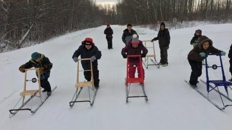 Kicking off the kicksledding revolution in Fort Liard, N.W.T.