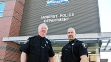 Amherst Police Department Chief Ian Naylor and Deputy Chief Dwayne Pike