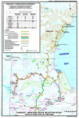 Nunavut-Manitoba Route Selection Study map