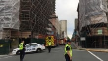 Police blocked off part of Barrington Street so firefighters could deal with the situation.