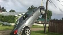 Nipawin car dangling