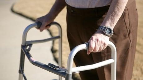 Old person walker senior citizen