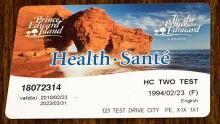 P.E.I. health card