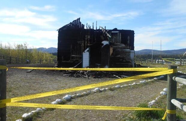 fire arson McDougall Stoney Mission Church