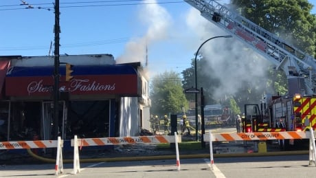 Stubborn fire flares up again in Vancouver's Kerrisdale neighbourhood