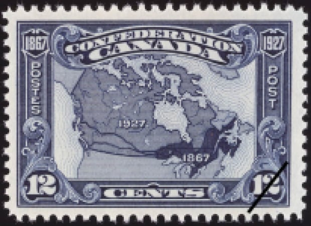 1927 stamp commorating confederation