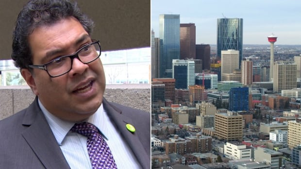 Is opposition from the business community helping or hurting Naheed Nenshi's bid for his third term as mayor of Calgary.