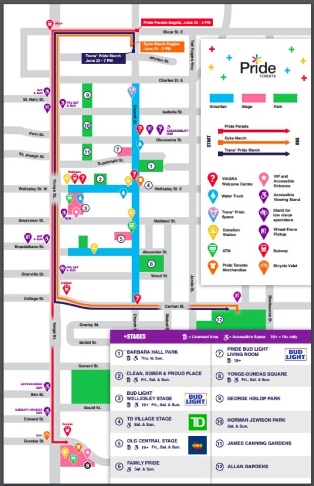 Pride Parade Routes