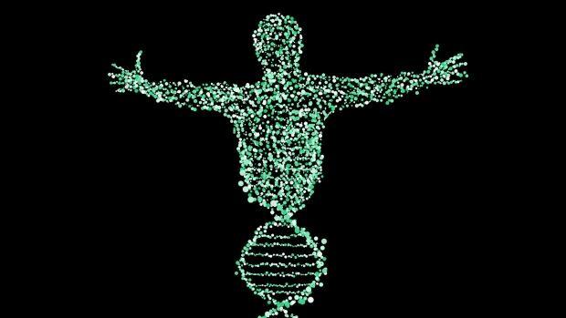 Man DNA helix illustration