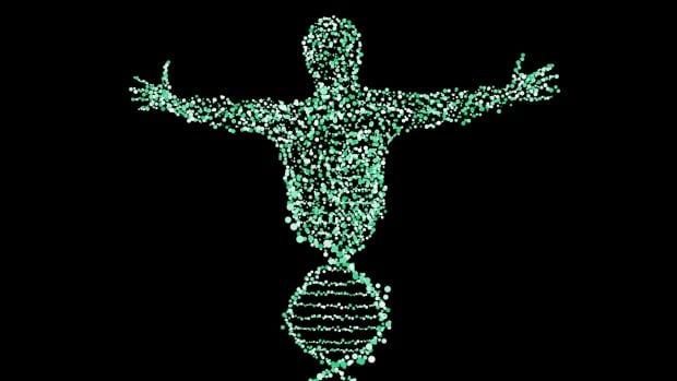 Man DNA helix illustration