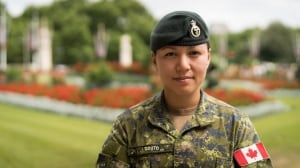 Meet the Canadian woman guarding the Queen