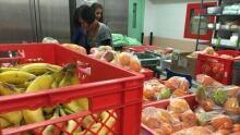 Food bank workers in Toronto
