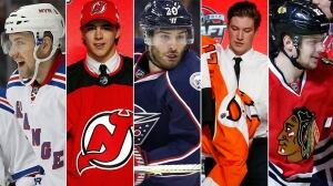 NHL draft partially upstaged by torrent of trades
