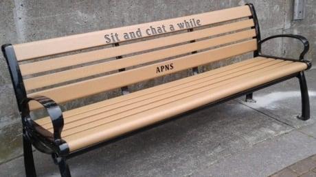 Yarmouth APNS park bench