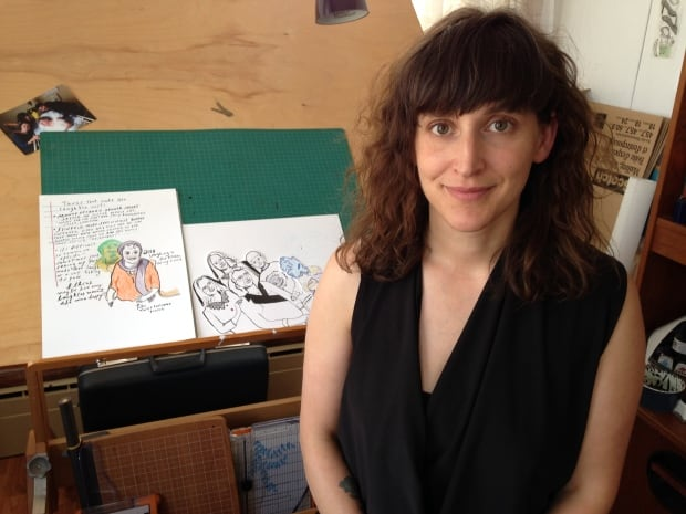 Alison Uhma and some of her illustrations
