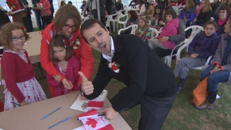 Sebastien De Lazzer and family, citizenship ceremony Winnipeg