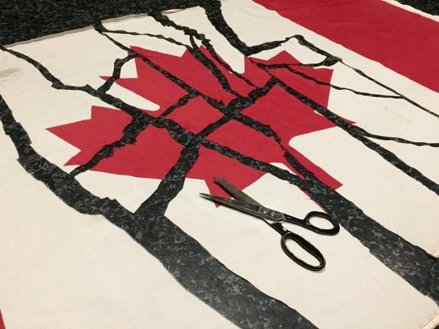 Canadian Flag cutting