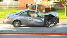 car chase crash