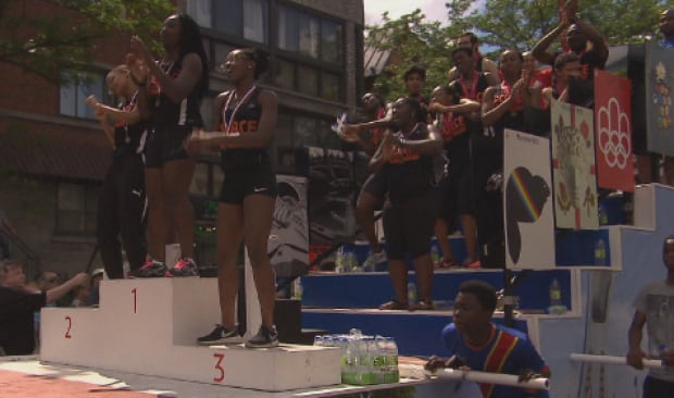 Four black teens pushing a Canadian float spark claims of racism