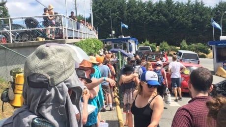 Mayne Island Village Bay Ferry Terminal line-up