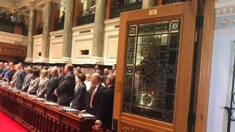 B.C. MLAs in legislature for June 22 throne speech